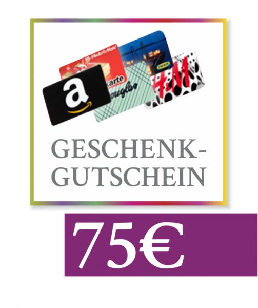 "75 € Geschenkgutschein ""Amazon, Media Markt, Douglas & Co"""