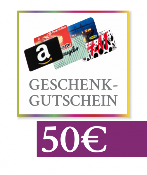 "50 € Geschenkgutschein ""Amazon, Media Markt, Douglas & Co"""